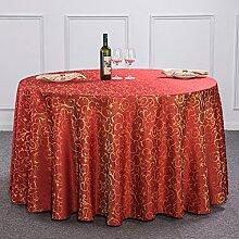 Hotel Runde Tischdecke/Tuch/ Hotel Restaurant Tischdecken/ quadratischen Tisch/Runde European-Style Hochzeit Tischdecke/ Tischwäsche für den Hausgebrauch/Tischdecke decke-B Durchmesser220cm(87inch)