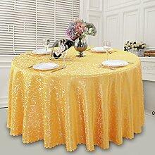 Hotel Tischdecke Bankett Häkeln Restaurant Hochzeit Tisch Rock Restaurant Runde Tischdecke,Yellow-360CM