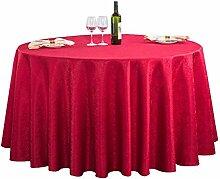 Hotel Tischdecke, Einfarbige Runde Tischdecke,