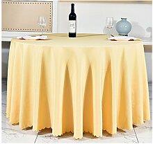 Hotel-Tischdecke, europäisches Gaststätte-Gaststätte-Tuch, Konferenztischdecke, Polyester-Gewebe, Durchmesser 118.11inch Tapete Tischtuch ( farbe : Q Yellow )