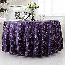 Hotel Tischdecke Restaurant Europäische Stil Lila Runde Tisch Tuch Tuch Hochzeit Bankett Western Essen Tapete Runder Tisch Tischtuch ( größe : 280cm )