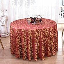 Hotel Tischdecke Restaurant Restaurant Runder Tisch waschbar Verdickung Esstisch Tisch Rock Pastoral Hause Esstisch Tuch ( farbe : # 3 , größe : 240cm )