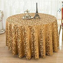 Hotel Tischdecke Restaurant Restaurant Runder Tisch waschbar Verdickung Esstisch Tisch Rock Pastoral Hause Esstisch Tuch ( farbe : # 2 , größe : 180cm )