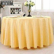Hotel-Tischdecke-runder Tisch-Kaffeetisch-Tuch europäischer Art-westlicher Nahrungsmitteltuch einfaches und modernes Tabellen-Tuch ( farbe : # 3 , größe : 220cm )