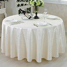 Hotel-Tischdecke-runder Tisch-Kaffeetisch-Tuch europäischer Art-westlicher Nahrungsmitteltuch einfaches und modernes Tabellen-Tuch ( farbe : # 1 , größe : 200cm )