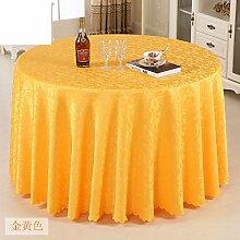 Hotel Tischdecke/Tabelle/Länglich Runde Tischdecke/Tischwäsche Für Den Hausgebrauch-E Durchmesser280cm(110inch)