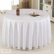 Hotel Tischdecke/Tabelle/Länglich Runde Tischdecke/Tischwäsche Für Den Hausgebrauch-C Durchmesser320cm(126inch)