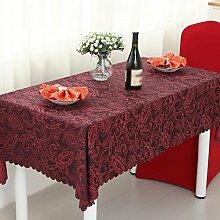 Hotel Tischdecke, Tuch europäisches Restaurant Restaurant Tischdecke, Wohnzimmer Couchtisch Tischtücher, Mode rechteckige Tischdecken , #1 , 120*180cm