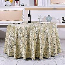 Hotel Tischdecke Weiß Tischdecke,Restaurant Hotel Pastoral Haus Rundes Tisch Tischdecke-B 140x160cm(55x63inch)