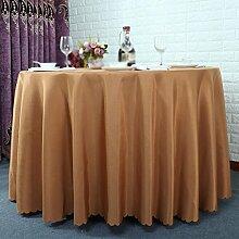 Hotel Tischtücher, Hotelrestaurant Tischdecken, runder Tisch, Tuch Wohnzimmer Tischdecken , #4 , 200cm