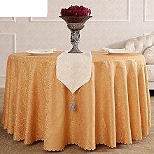 Hotels/Western Restaurant Tischdecke,Runde Tischdecke,Kaffee Tischdecke,Silber/Gelb Tischdecke-B Durchmesser200cm(79inch)