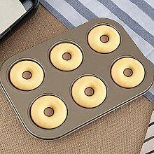 HOTEU Donut-Backblech, nicht klebend, groß, 6