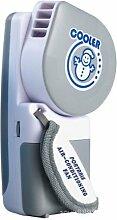HotJack Beweglicher kleiner Ventilator & Mini-Luft Conditioner, läuft auf Batterien oder USB-grau