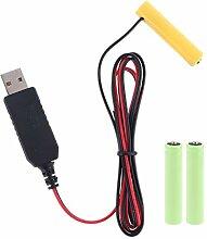 HOTPINK1 LR03 AAA Batterie-Eliminator, 2 m,