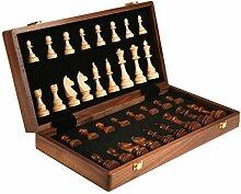 HOTPINK1 Schach Massivholz Set Groß Kinder Holz