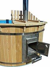Hottub Badezuber mit Ofen Sauna Gartensauna