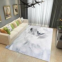 HOUHEIZHIDAO Modern Trendiger Kurzflor Teppich,
