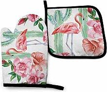 Houlipeng Aquarell Rosa Flamingo Kaktus Rosen T