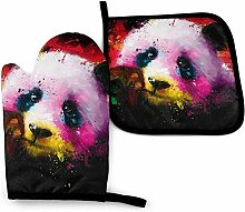 Houlipeng Bunte Panda Ölgemälde Splatter