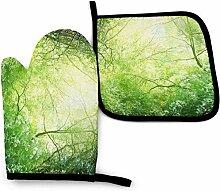Houlipeng Green Forest Nature Grasbäume Zweige
