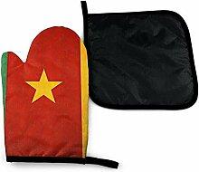 Houlipeng Kamerun Flagge Grün Rot Gelb Stern Blau