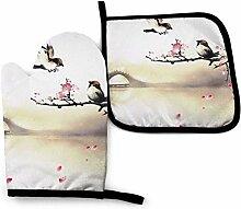 Houlipeng Kirschblütenblüte Vögel im