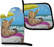 Houlipeng Lustige Katze Selfies am Strand