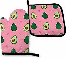 Houlipeng Nette Schönheit Avocado und Herzen