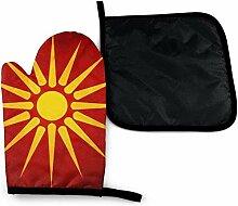 Houlipeng Neuheit Vintage Mazedonien Flagge Sonne