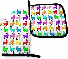 Houlipeng Rainbow Llamas Mosaic 1 Küchenofen Mitt