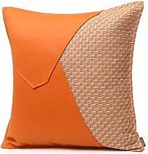 HOUMEL Dekorative Kissenbezüge orange PU-Leder