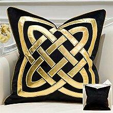 HOUMEL Kissenbezüge Gold-Geometric Dekokissen