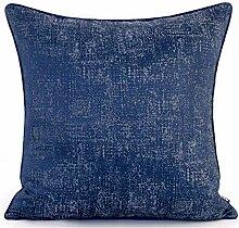 HOUMEL Kissenbezug Blau-Punkt-Licht Solid Color