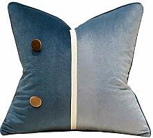HOUMEL Kissenbezug weiß und blau-weiche warme