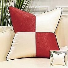 HOUMEL Kissenbezug Weiß Und Rot Dekorative