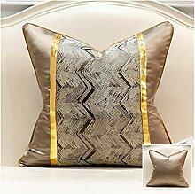 HOUMEL Tief Kaffee Jacquard-Muster Pillowcase
