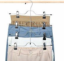 House Day Kleiderbügel mit Clips, 4 Etagen, 3