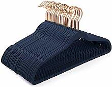 HOUSE DAY Kleiderbügel Samt 50Stück Blau