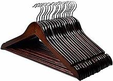 HOUSE DAY Premium Holz-Kleiderbügel für Mäntel,