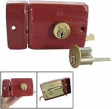 House Tür rot Sicherheit Riegel Riegel Lock w 3Schlüssel