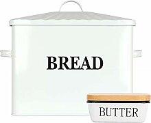 Houseables Brotkasten und Butterdosen-Set, 39,4 x