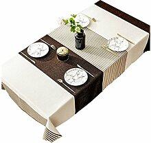 Household cloth XZG Streifen Tischdecke, kreative