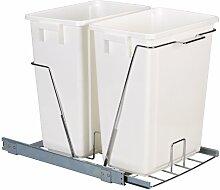 Household Essentials Doppel-Mülleimer für 2