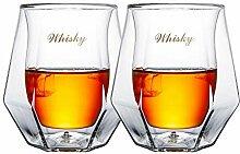 househome Doppelwandiges Glas Whisky Gläser