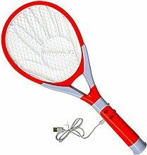 HOUTBY™ USB Wiederaufladbar Elektrische Fliegenklatsche Fliegenfänger Bug Moskito-Klatsche Zapper Anwendung im Haus und Draußen mit LED-Lampe