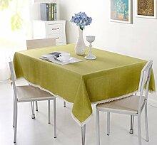 HOUZII Rechteckige Tischdecke aus Baumwolle und