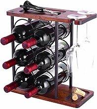 HOWDIA Luxuriöses Weinflaschenregal für