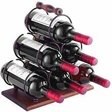 HOWDIA Weinregal für 4 Flaschen und 4 Gläser,
