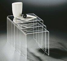 HOWE-Deko Hochwertiger Acryl-Glas Dreisatztisch,