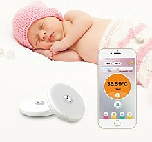 Hoxin Tragbares Baby-Bluetooth-Smart-Thermometer,